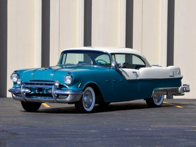 1955 Pontiac Star Chief Custom Catalina retro luxury wallpaper