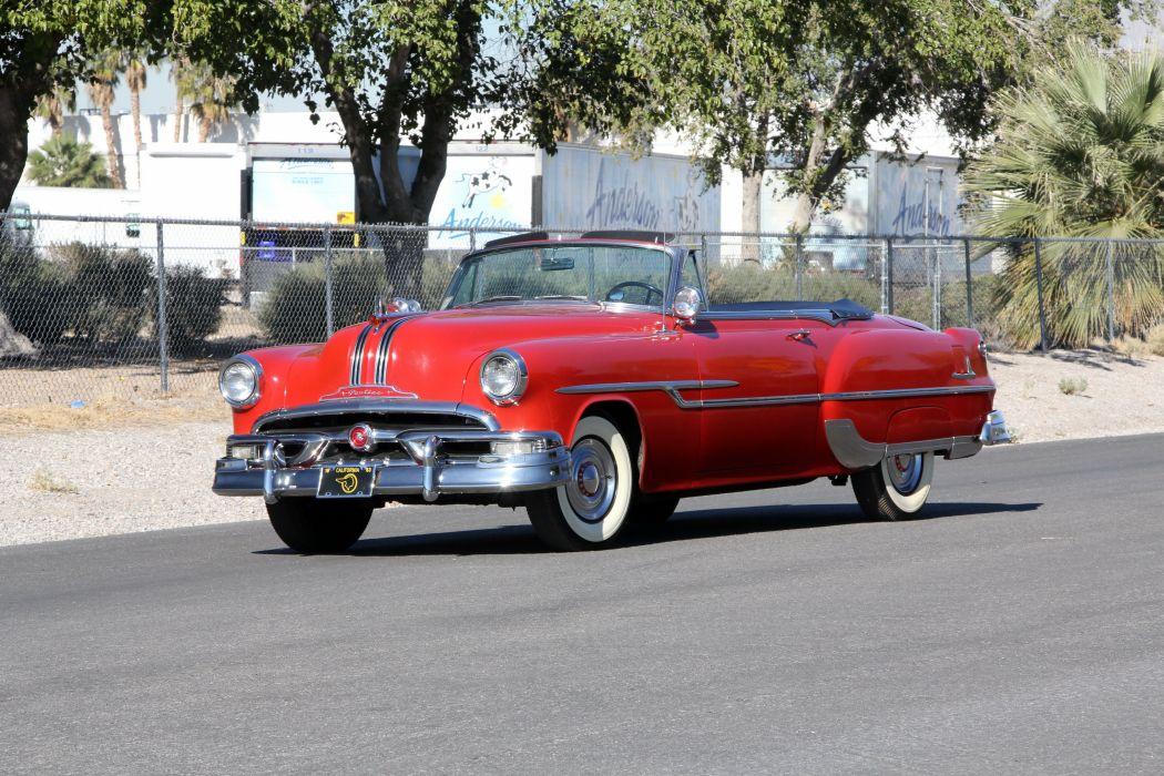 1953 Pontiac Chieftain DeLuxe Convertible Coupe retro wallpaper