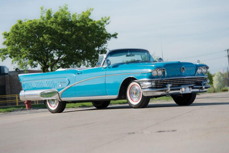 1958 Buick Limited Convertible luxury retro wallpaper