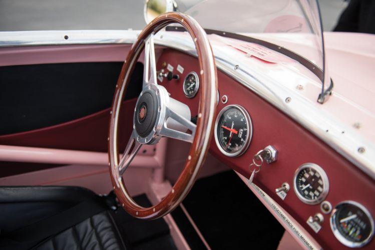 1959 Austin Healey Sprite SCCA Think pink Mk1 race racing rally retro wallpaper