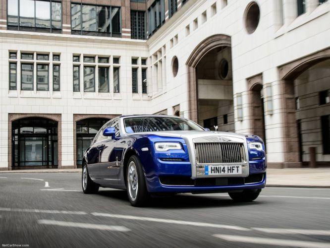 Rolls Royce Ghost Series II cars sedan luxury blue 2015 wallpaper