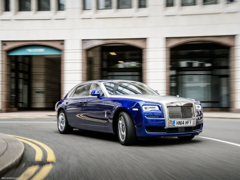 Rolls Royce Ghost Series II cars sedan luxury blue 2015 wallpaper
