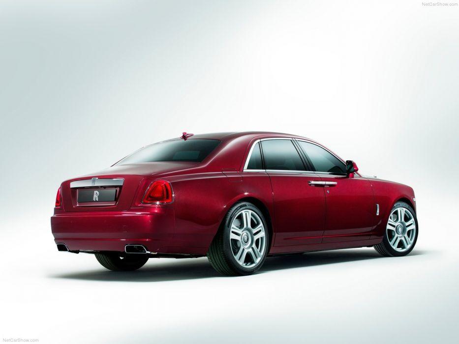 Rolls Royce Ghost Series II cars sedan luxury red 2015 wallpaper