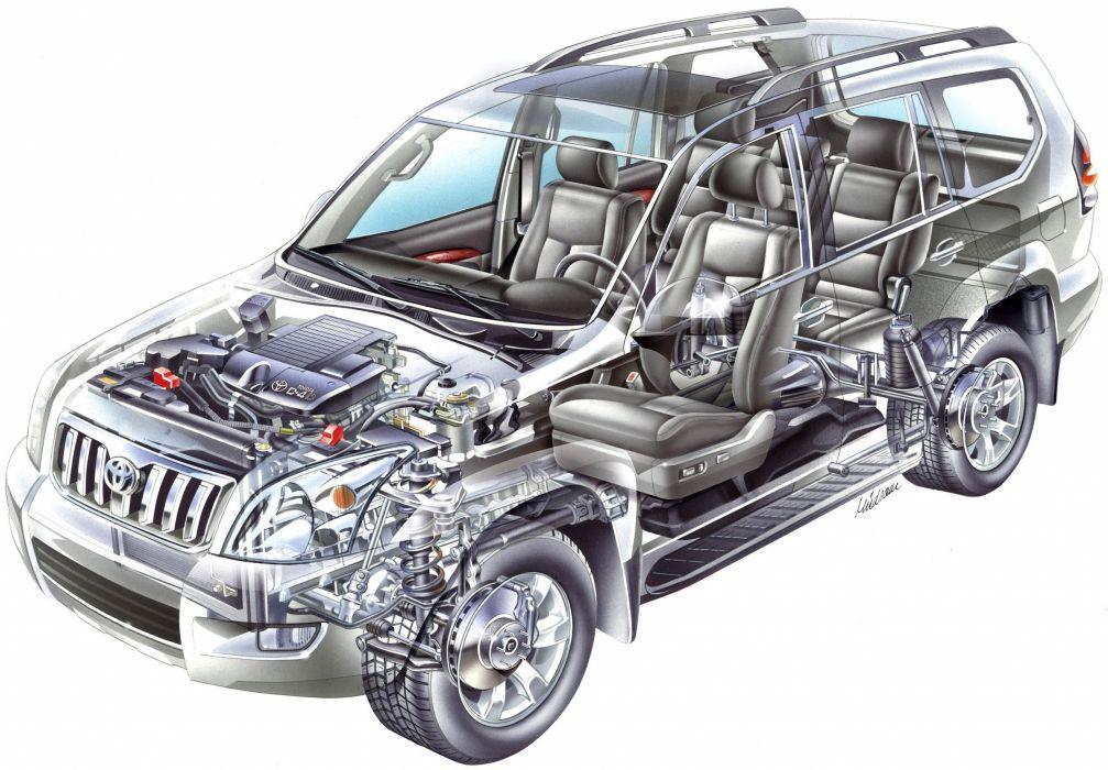 Toyota Land Cruiser Prado 5-door cars awd cutaway wallpaper