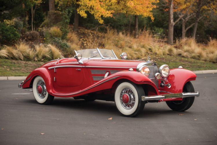 1937 Mercedes Benz 540K Special Roadster luxury vintage wallpaper