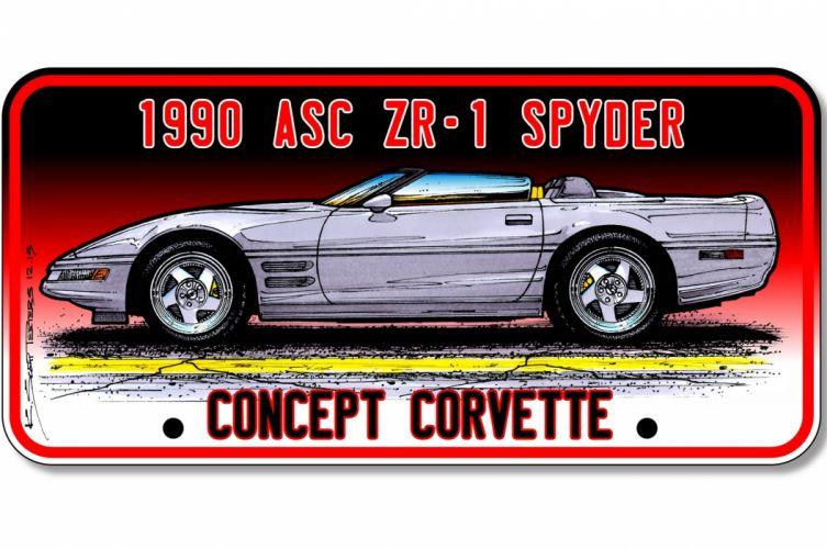 1990 ASC ZR-1 Spyder chevrolet corvette muscle supercar wallpaper