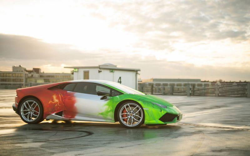 2016 Print Tech Lamborghini Huracan tuning supercar wallpaper