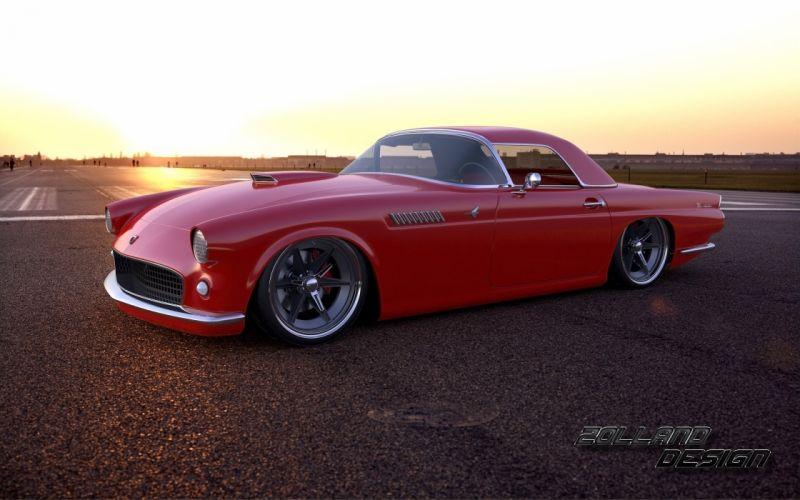 2015 Ford Thunderbird >> 2015 Zolland Design Ford Thunderbird 1955 tuning custom hot rod rods wallpaper | 2560x1600 ...