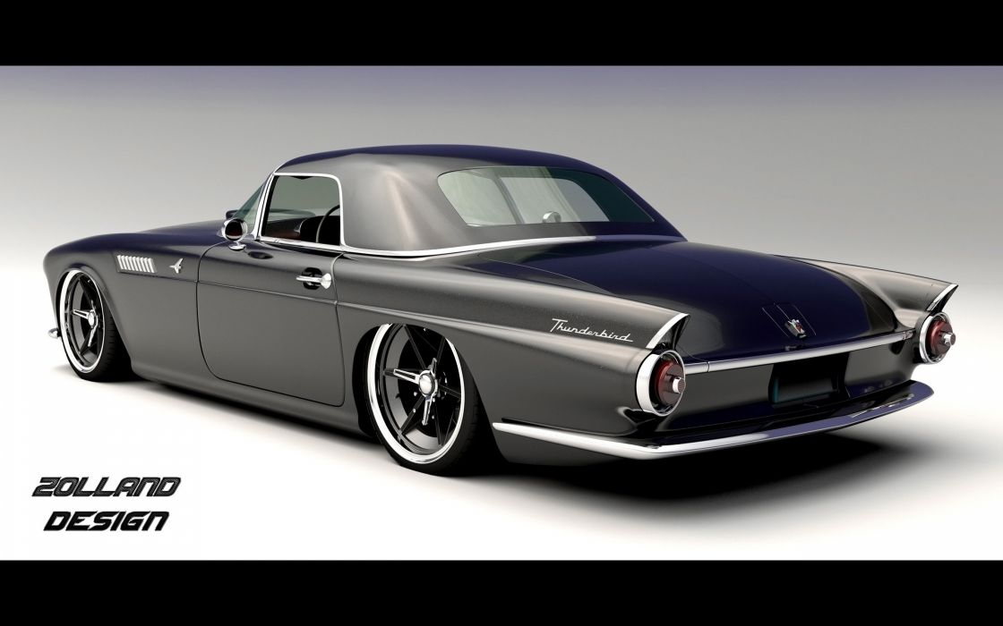 2015 Zolland Design Ford Thunderbird 1955 tuning custom hot rod rods wallpaper