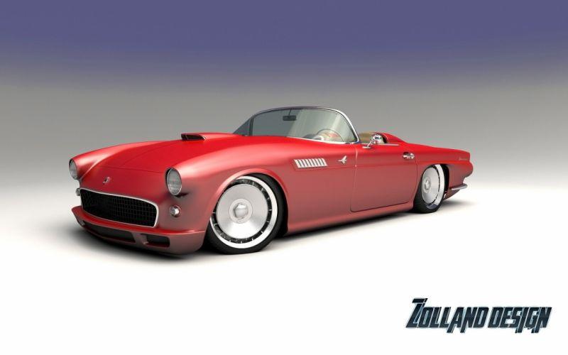 2015 Zolland Design Ford Thunderbird 1955 tuning custom hot rod rods wallpaper