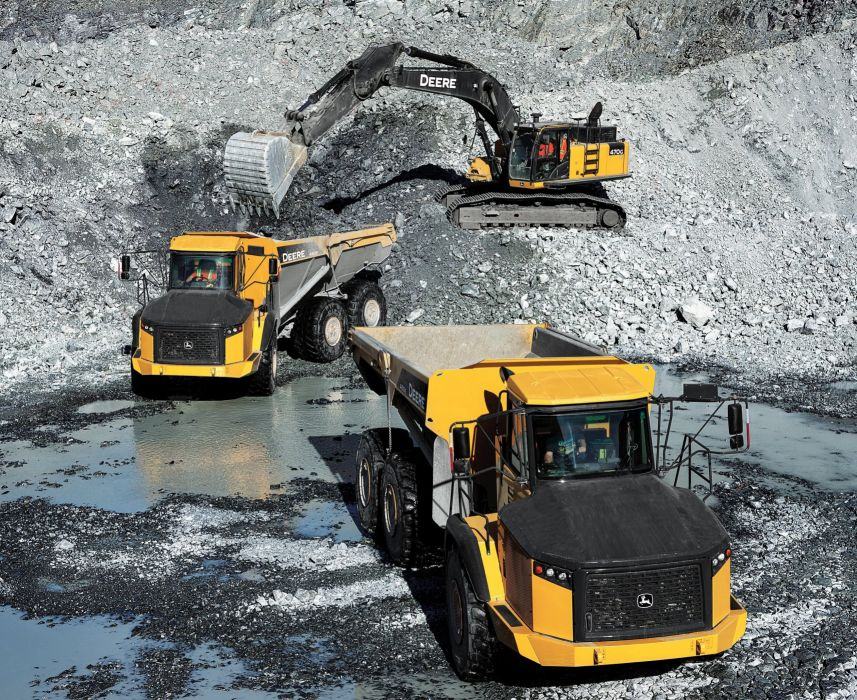 Deere ADT 460E quarry construction dump dumptruck semi tractor wallpaper
