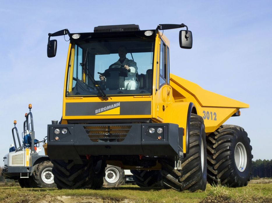 2009 Bergmann 3012 dumptruck dump quarry construction semi tractor 4x4 wallpaper