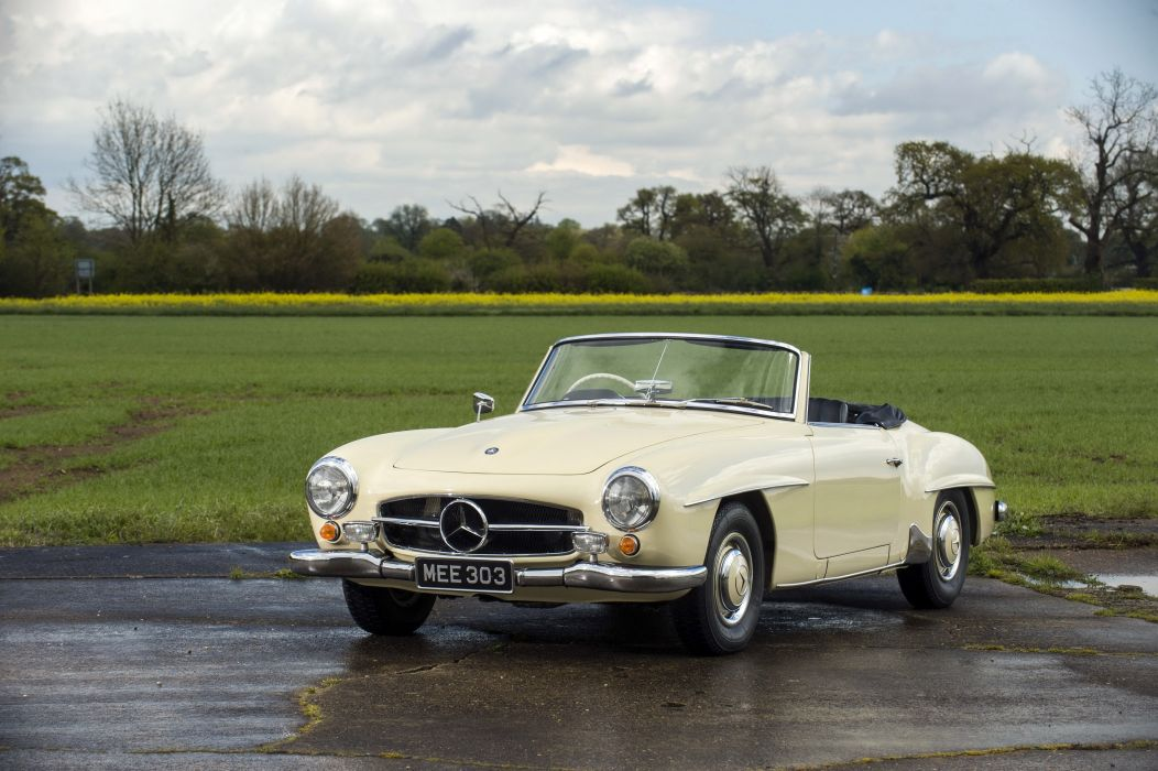 1955-62 Mercedes Benz 190SL UK-spec R121 190 s-l retro luxury wallpaper