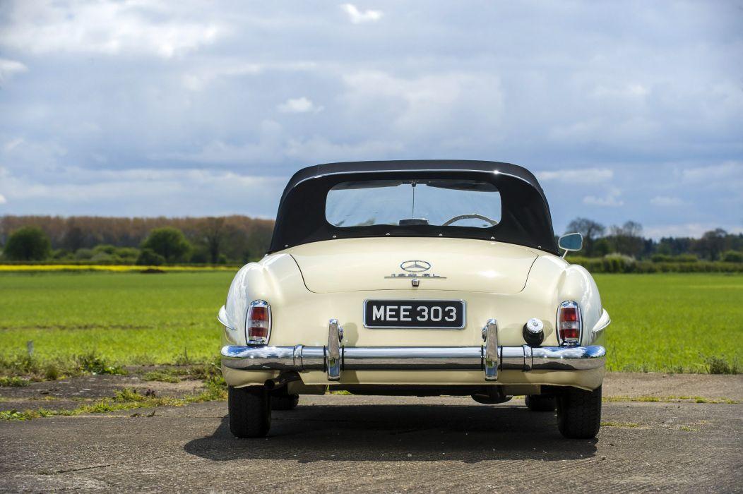 1955-62 Mercedes Benz 190SL UK-spec R121 190 s-l retro luxury wallpaper