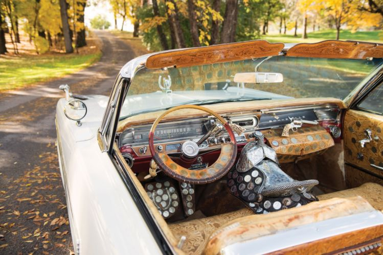 1963 Pontiac Bonneville Convertible Nudie Cohn classic luxury custom wallpaper