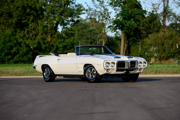1969 Pontiac Firebird Trans-Am Ram Air III Convertible trans muscle classic wallpaper