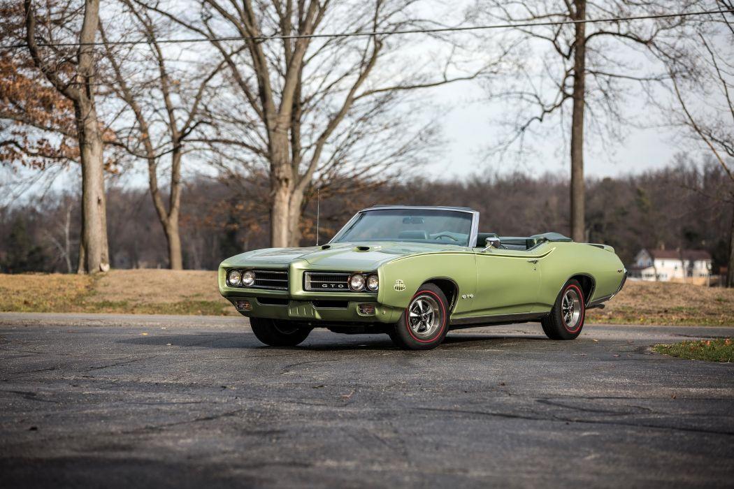 1969 Pontiac GTO Judge Ram Air III Convertible 24267 muscle classic wallpaper