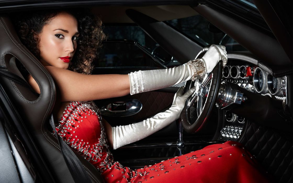 women woman female model girl auto cars sexy babe wallpaper