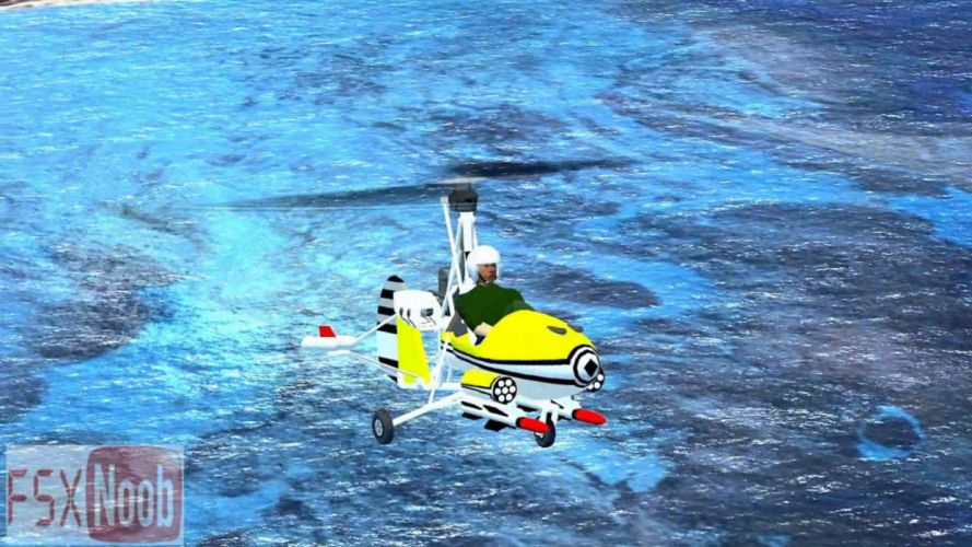 autogiro vuelo mar vehiculo wallpaper