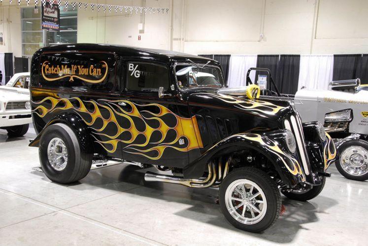 GASSER drag racing race custom hot rod rods pickup truck van panel wallpaper