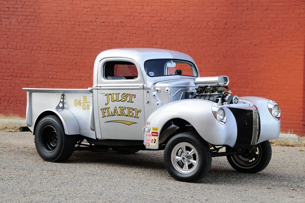 GASSER drag racing race custom hot rod rods pickup truck wallpaper