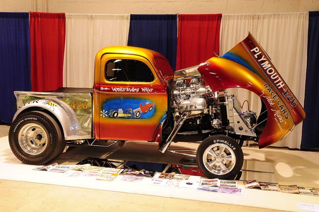 GASSER drag racing race custom hot rod rods pickup truck wallpaper