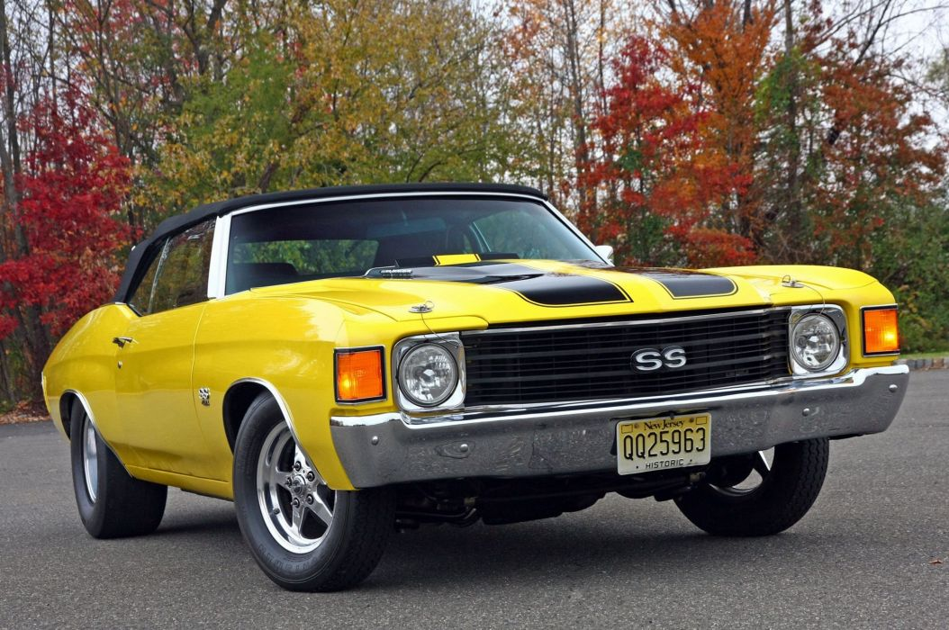 1972 Chevrolet Chevelle S-S hot rod rods custom muscle classic convertible wallpaper