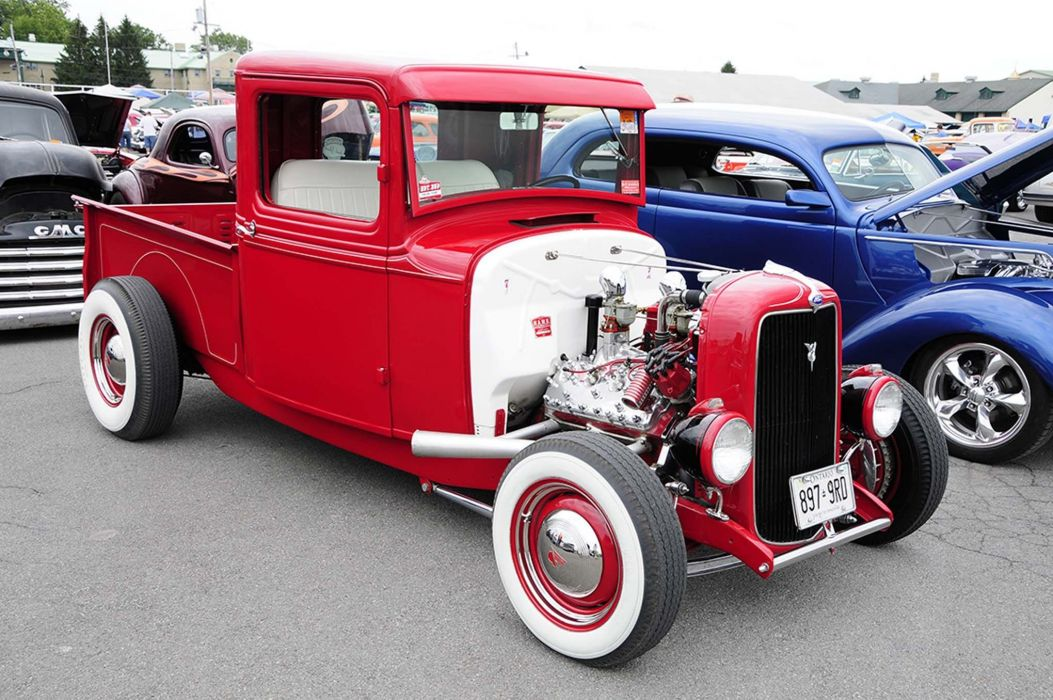 HOT ROD rods custom retro vintage pickup truck wallpaper