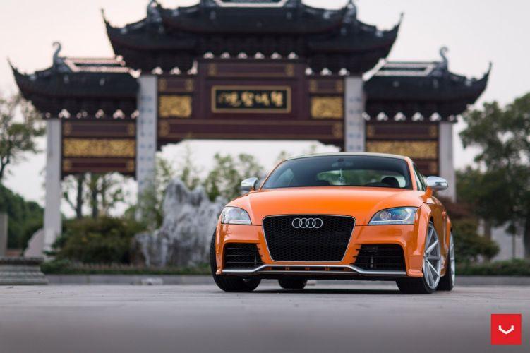 Audi TT RS coupe Orange cars Vossen Wheels wallpaper
