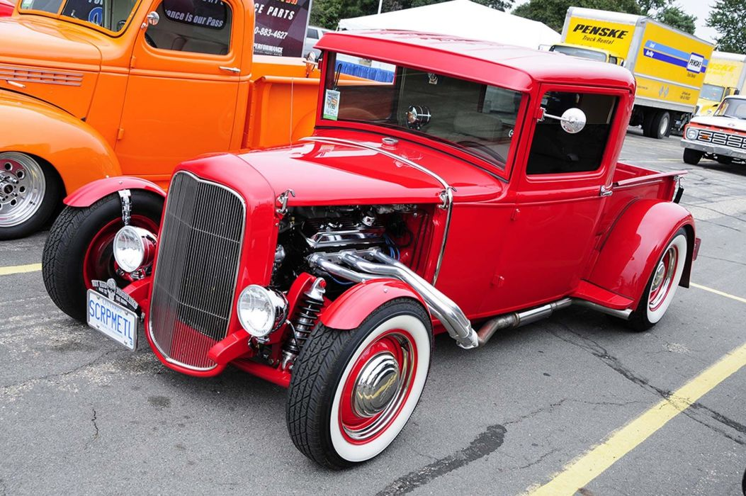 HOT ROD rods custom retro vintage pickup truck wallpaper