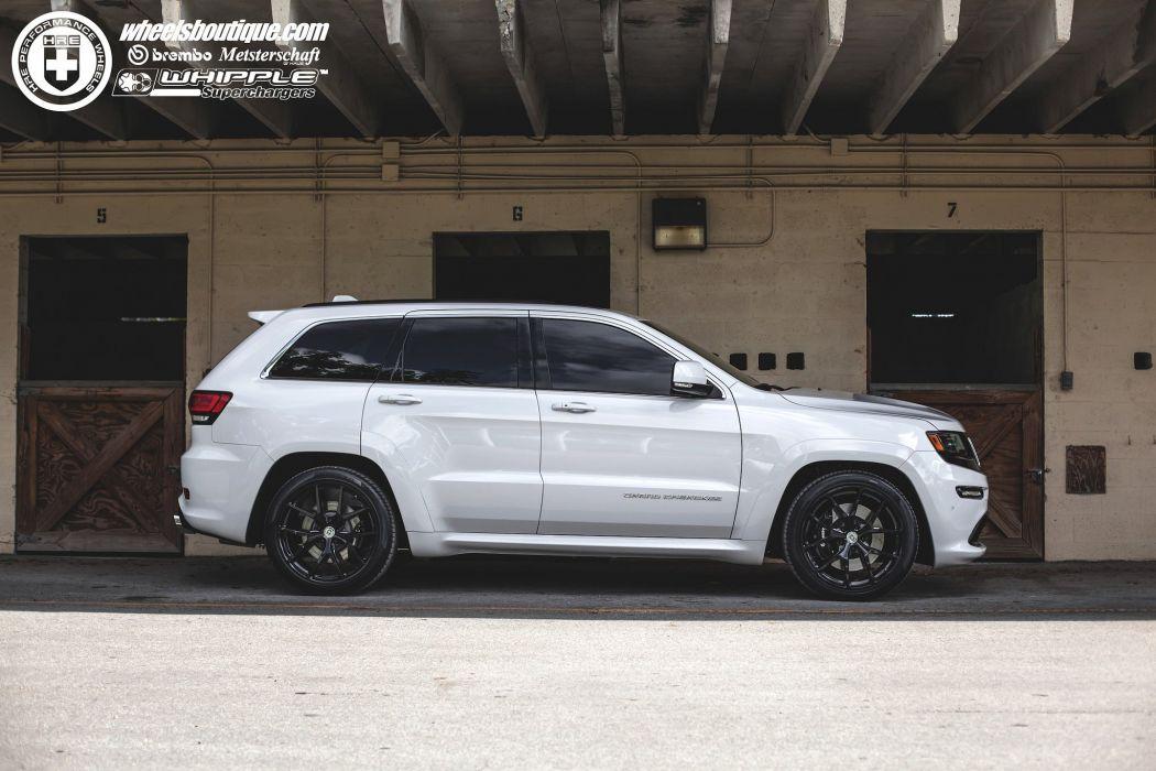 Jeep Grand Cherokee SRT8 white cars hre Wheels wallpaper