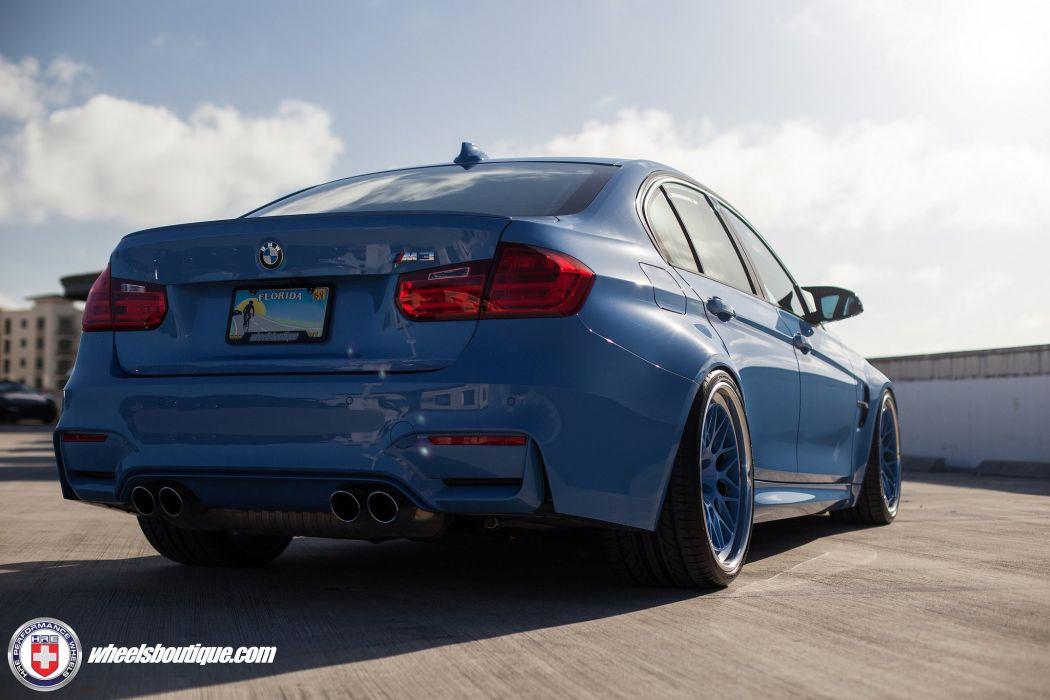BMW M3 blue sedan cars hre Wheels wallpaper