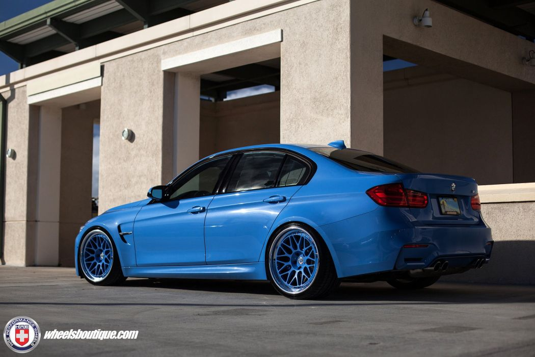 BMW M3 blue sedan cars hre Wheels wallpaper