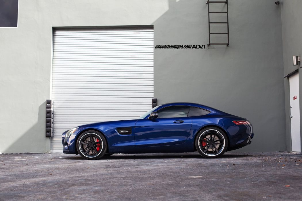 Mercedes Benz AMG GTS blue coupe cars hre Wheels wallpaper