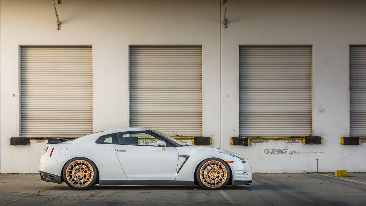Nissan GTR R35 white godzilla cars hre Wheels wallpaper