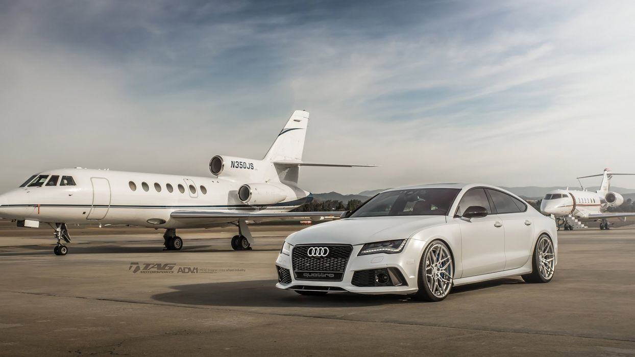 ADV1 WHEELS AUDI RS7 white cars wallpaper