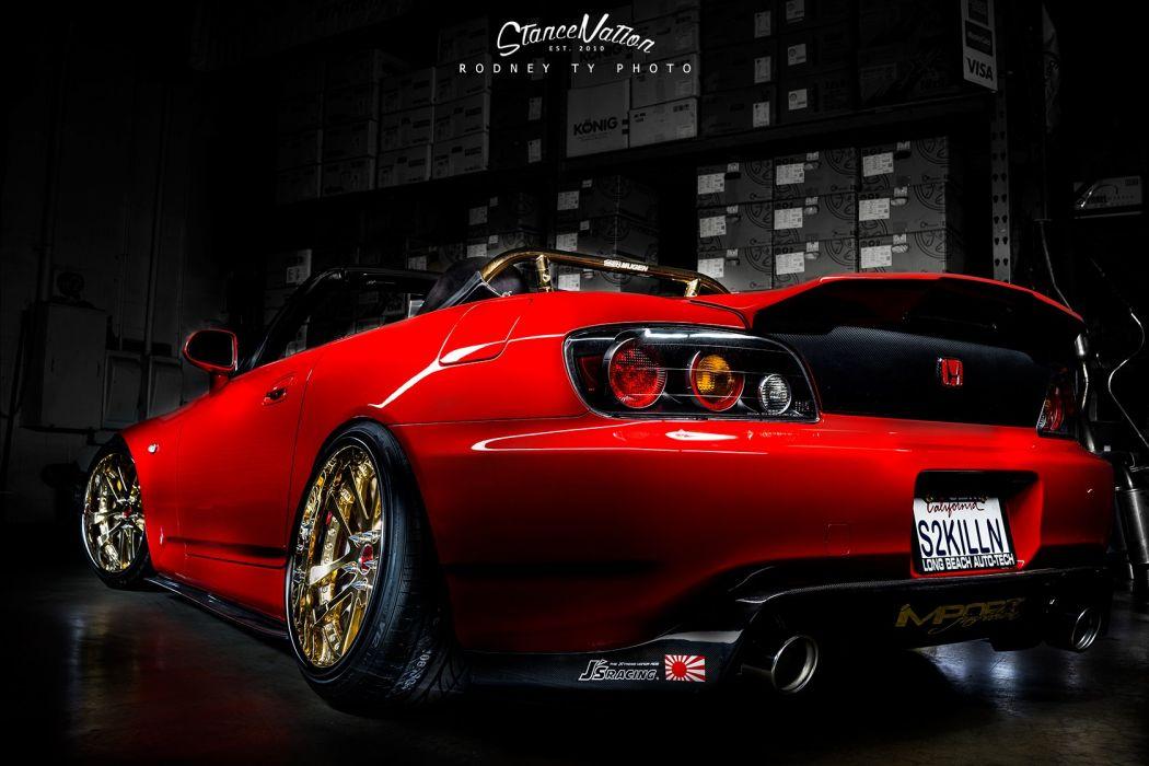 honda s2000 cars red convertible wallpaper