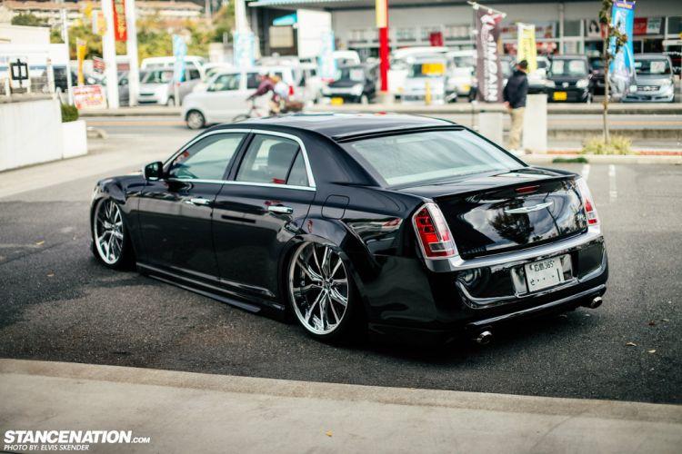 Chrysler 300C cars black sedan wallpaper