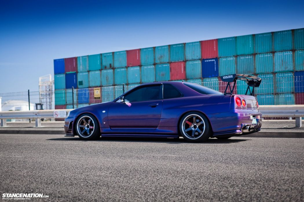 NISSAN SKYLINE R34 GTR cars coupe wallpaper