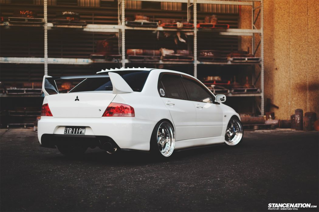 MITSUBISHI EVO cars white wallpaper