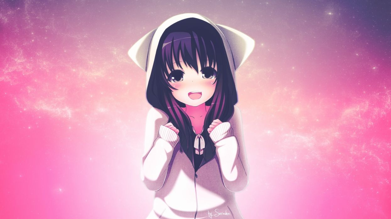 animal ears hoodie photoshop tagme (artist) tagme (character) wallpaper
