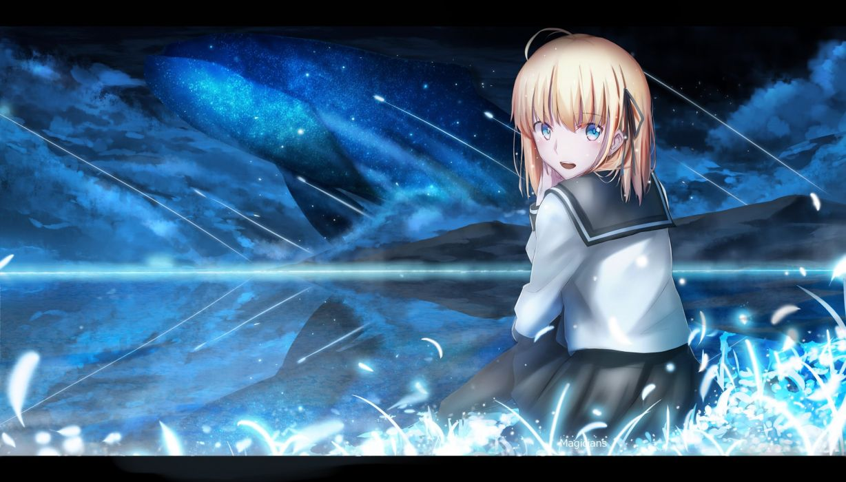 fate stay night magicians saber signed wallpaper