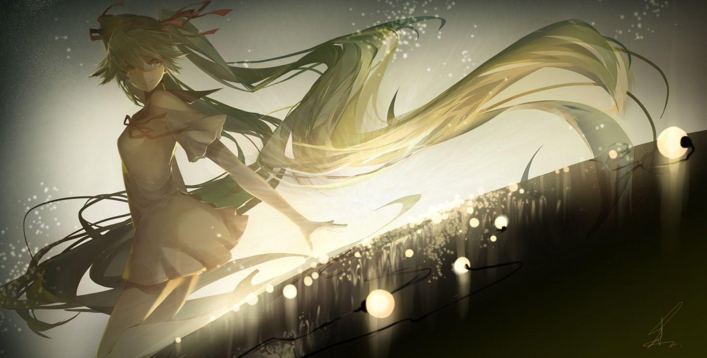 hatsune miku saihate twintails vocaloid wallpaper