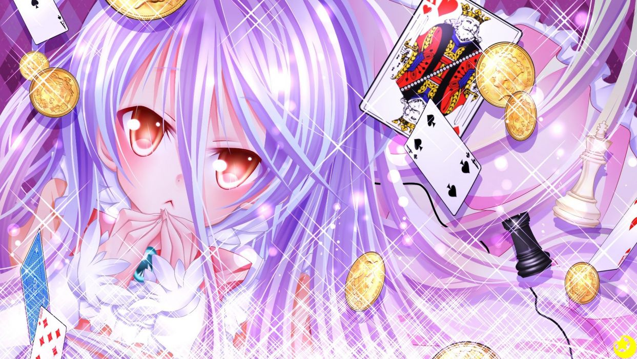 long hair mizuki no game no life red eyes shiro (no game no life) white hair wallpaper