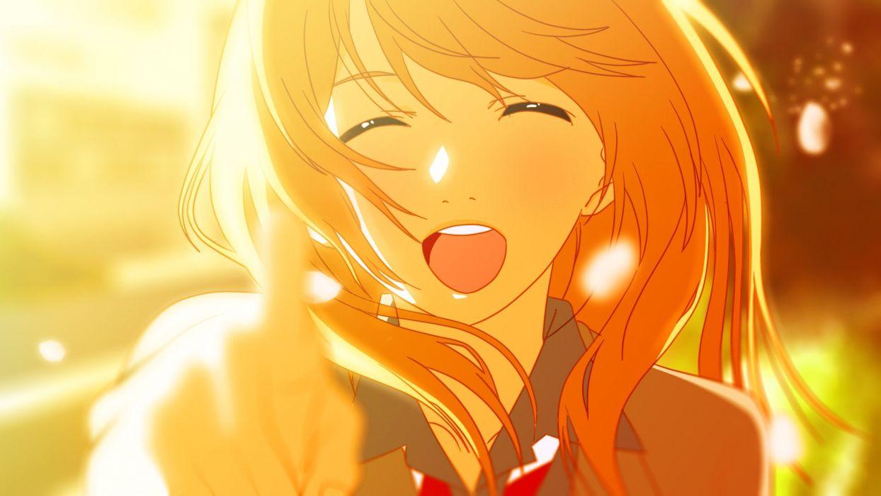 close miyazono kawori orange orange hair shigatsu wa kimi no uso xanta wallpaper