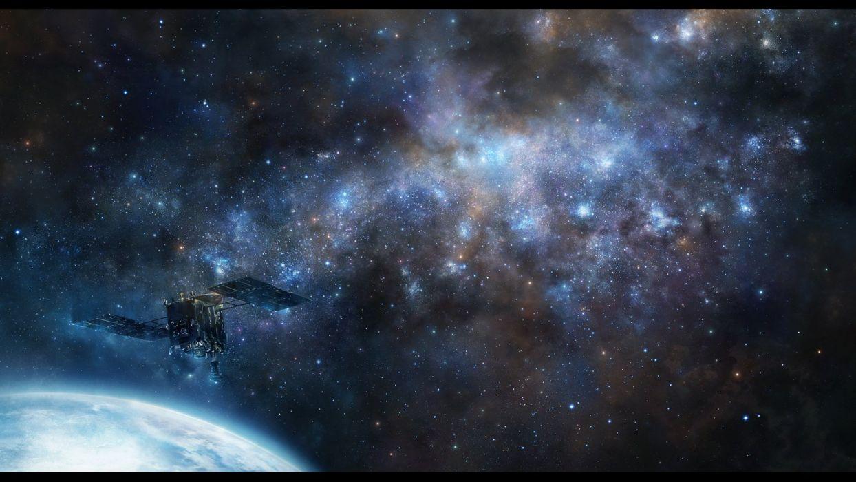 iy tujiki nobody original planet scenic space stars wallpaper