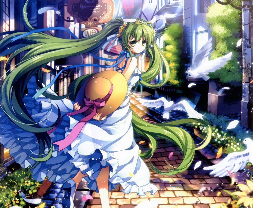 capura lin cropped dress eternal phantasia hatsune miku scan summer dress twintails vocaloid wallpaper