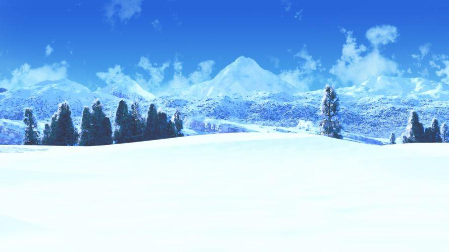 clouds ihara asta landscape nobody original scenic sky snow tree winter wallpaper