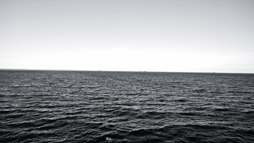sea black&white grey baltic denmark water wallpaper