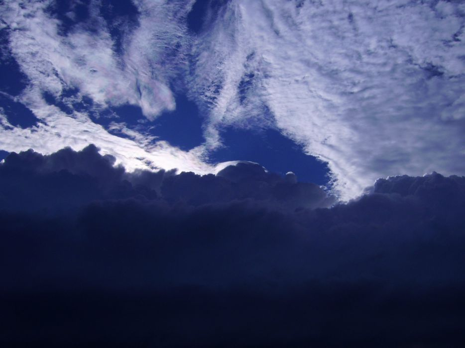 blue sky clouds white wallpaper